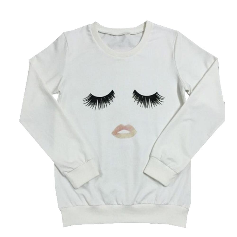 Emoji T Shirts Women Tops Ropa Mujer Cute White Long ...