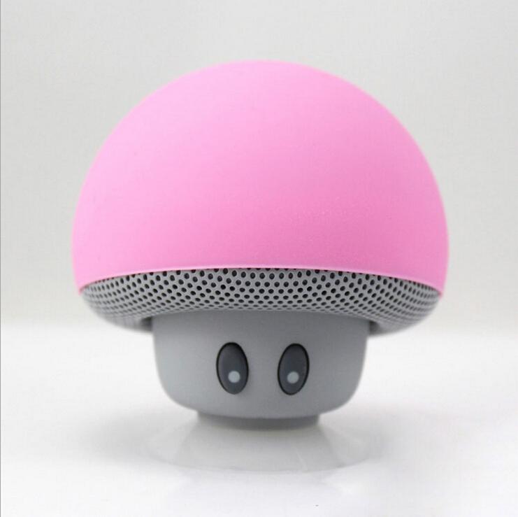 Mini Portable Bluetooth Speaker Hands Free MP3 Player For iphone Samsung LG Xiaomi Mobile Phone Cute Cartoon Mushroom Style New(China (Mainland))