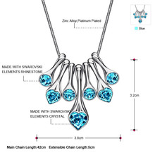 Neoglory MADE WITH SWAROVSKI ELEMENTS Crystal Choker Heart Necklaces For Women Charm Jewelry Accessories 2015 New