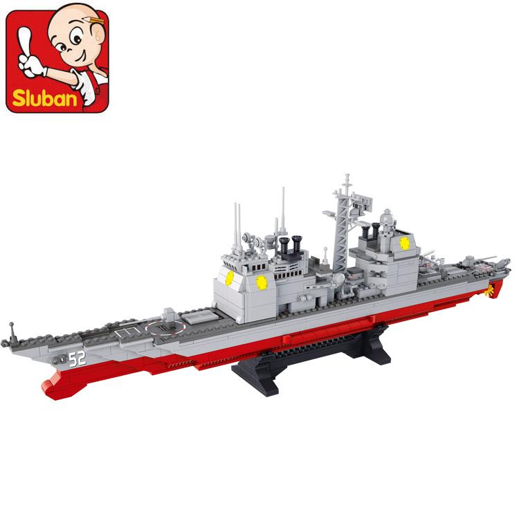 Building Block Set Compatible lego Marine Cruisers military 883D Construction Brick Educational Hobbies Toys Kids