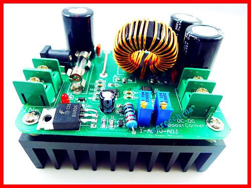10pcs/lot New 600W DC IN 10-60V OUT 12-80V 15A MAX Boost Converter Step-up Module car Power Supply #U007V(China (Mainland))