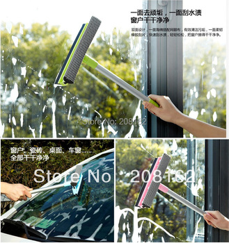 Detachable Duplex Glass Rub Sponge Windshield Wiper Cleaning Blade Window Rag Dusting Brushes Washing Tools