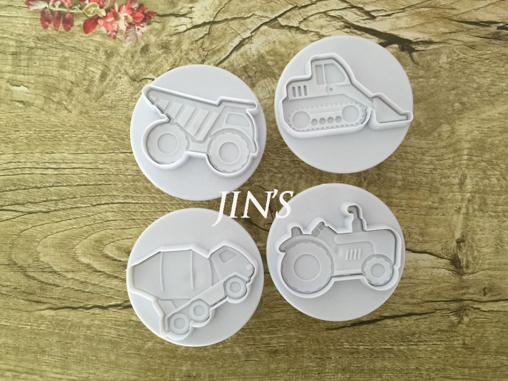 4PCS/LOT Missile vehicle,Tank, Armored car Sample Plastic Cookie Cutter, Fondant Cake Tools, Cake Decorating DIY Molds 020171(China (Mainland))