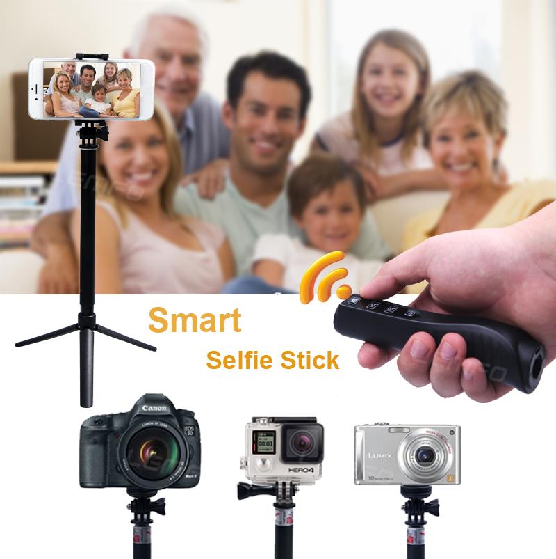 buy handheld selfie monopod trigger shutter gopro hero 3 4 action sport cam. Black Bedroom Furniture Sets. Home Design Ideas
