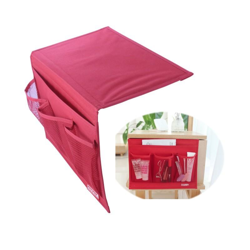 Novelty Disktopside Bedside Pocket Bed Side Organizer Hanging Bag For TV Remote cell phone book magazine Zakka Storage Pouch(China (Mainland))