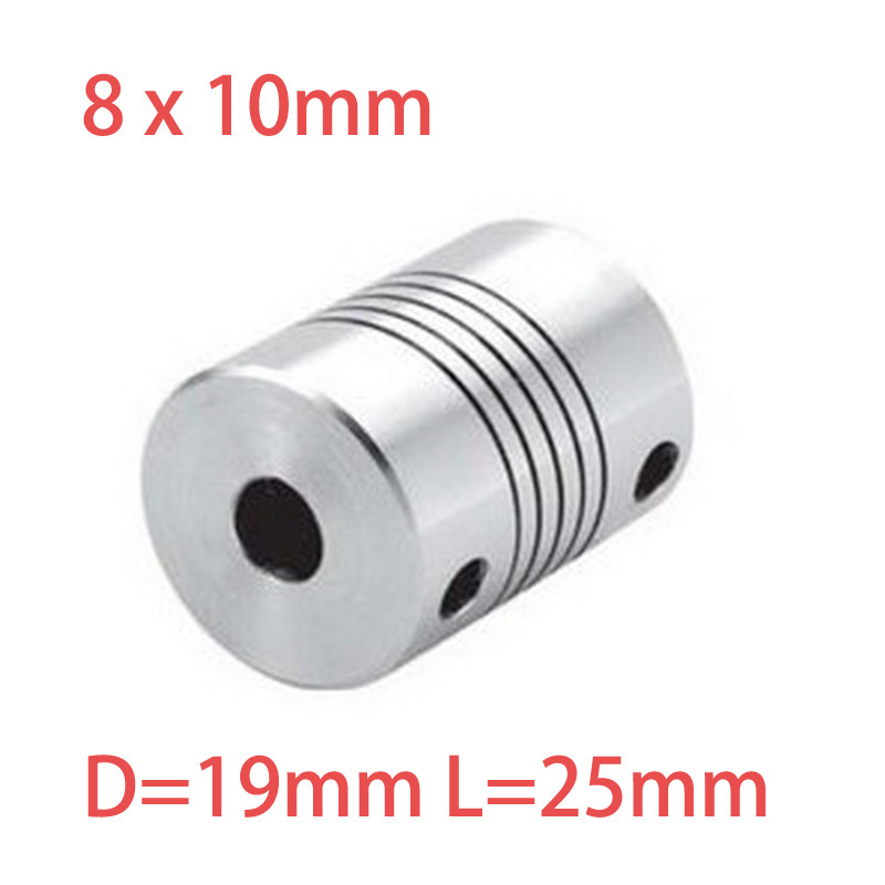 4pcs 8x10mm CNC Motor Jaw Shaft Coupler 8mm To 10mm Flexible Coupling OD 19x25mm wholesale Dropshipping(China (Mainland))