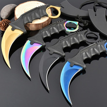 Buy Stainless Steel Mini Pocket Knife Hunting Karambit Knife CS Go Outdoor Camp Survival Combat Knife CS Wolf Game Player Claw Knife for $9.73 in AliExpress store