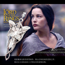 Sunshine fashion jewelry Silver the lord of the film Arwen Evenstar Arwen 5*3CM Pendant necklace for women factory price X229(China (Mainland))