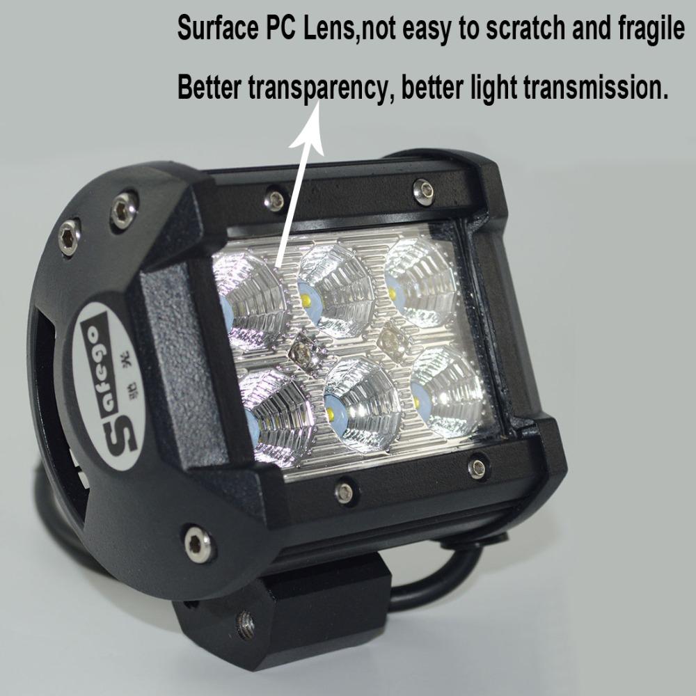 Safego Led Lights 4 Inch 18w Work Lite : Pcs v w led work light cree offroad