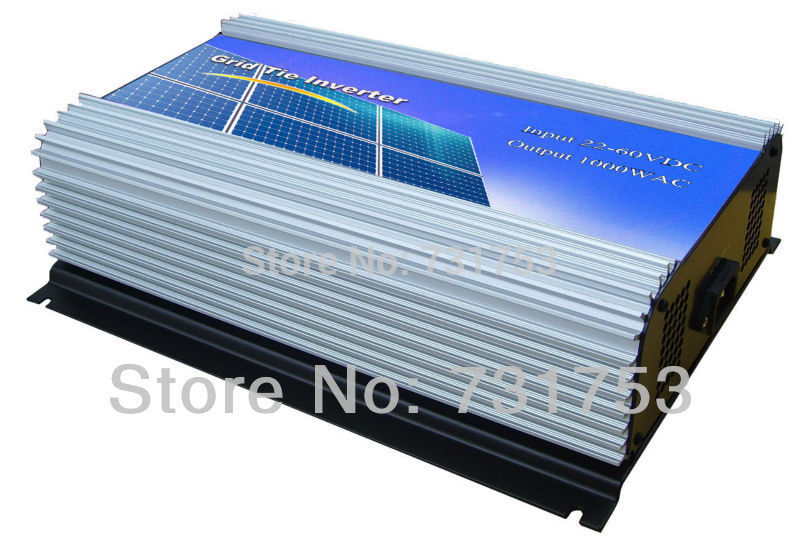 22-60VDC ,1000W Solar Grid Tie Inverter Connect Solar Panel ,Hight Efficiency,90-130VAC, 50Hz/60Hz,LCD display ,Free Shipping(China (Mainland))