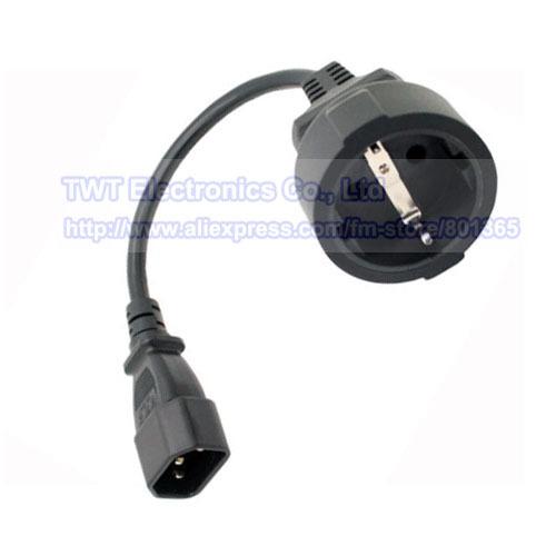 EURO UPS/PDU Power Cord , IEC 320 C14 3Pin Male Plug to CEE 7/7 European SCHUKO Socket Female Adapter Cable,10pcs Free shipping(China (Mainland))