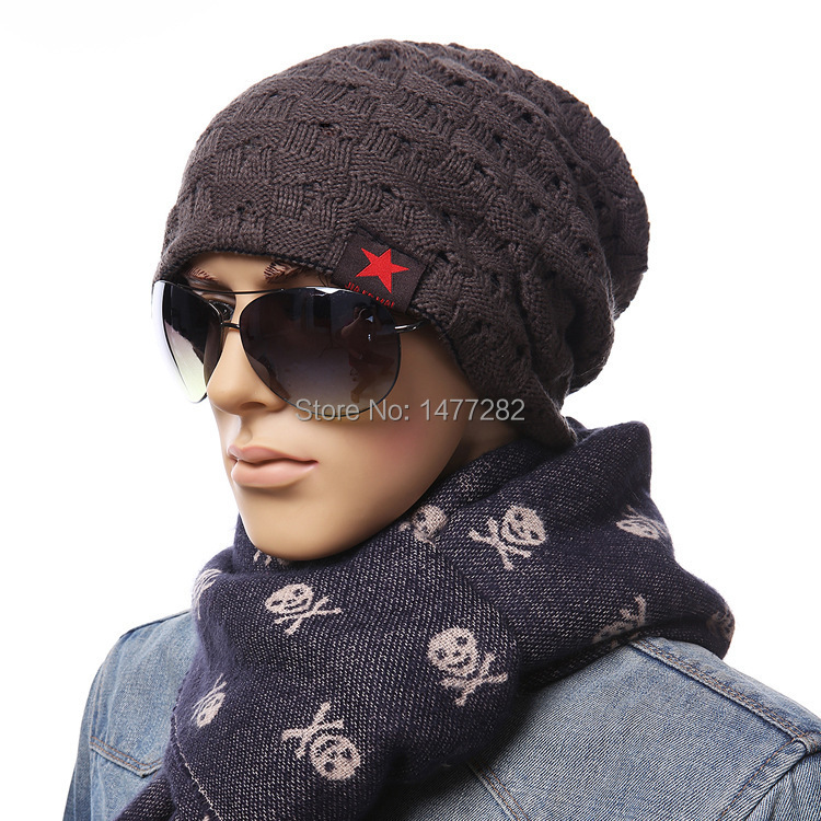Fashion reversible hat winter small five-pointed star cap beanie men/women beanies warm knitted hats caps mz1048 - Easy Life House store