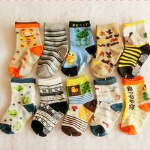 1-3Years Brand Quality Full Cotton Children Autumn Spring Boys Cartoon Socks Dispensing Slip Bottom Baby Infant Kids Girls Socks