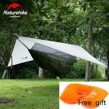 Naturehike 1 Person 2 Color Covered Hammock Hanging Tent Camping Gear Backpacking Equipment Closed Outdoor Sports Grey Pillow(China (Mainland))