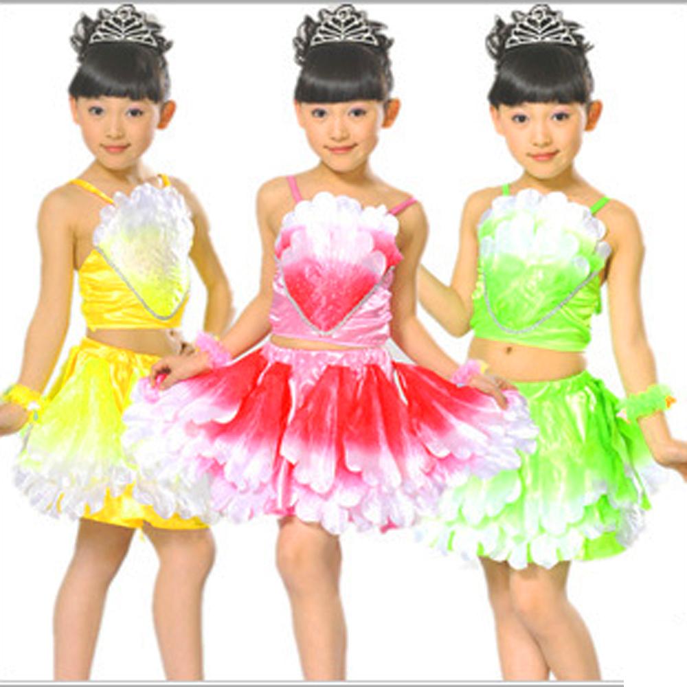 Children's costumes girls princess dress performing modern dance split leaves ballet dresses Stage performance wear - Children Performance Clothing store