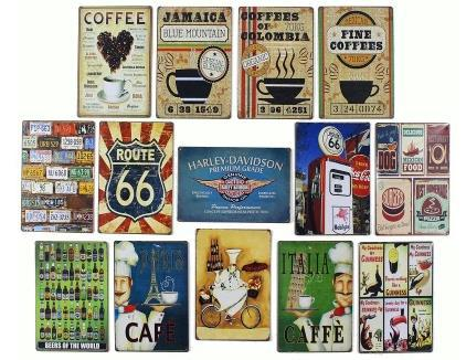 20x30cm 62112 coffee,cook metal poster plate vintage retro art tin sign home wall bar club coffee shop decoration(China (Mainland))