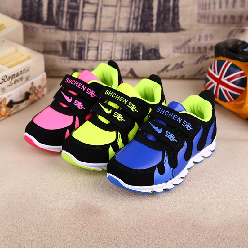 2016 New spring children shoes boys and girls fashion shoes student soft bottom sneakers kids shoes frees shipping