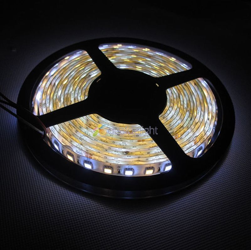 new 5m 5050 300leds dual white warm white cool white waterproof led strip light color. Black Bedroom Furniture Sets. Home Design Ideas