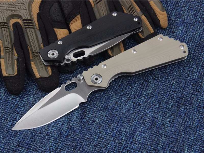 Buy G&P STRIDER Tactical folding Camping knife 5Cr13Mov blade steel G10 handle Hunting Survival brand Knife Outdoor EDC gift Tools cheap