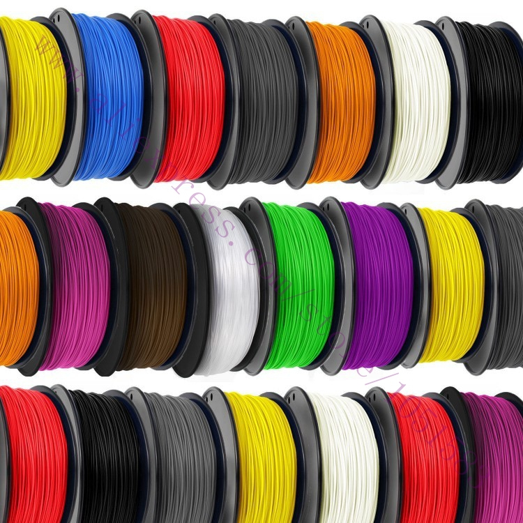 High Quality 15 Colours 3D Printer Filaments plastic Rubber Consumables Material, ROHS certified ,1.75/3mm ABS / PLA Optional(China (Mainland))