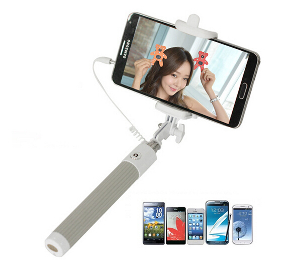 2015 extendable stick handheld self portrait camera selfie stick monopod for. Black Bedroom Furniture Sets. Home Design Ideas