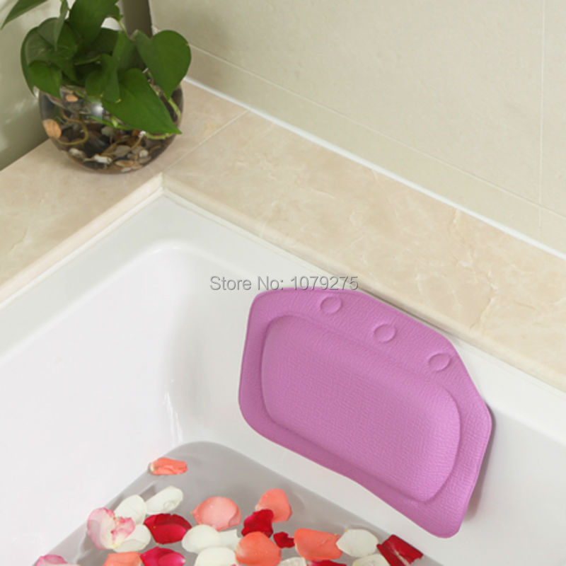 Bathroom supplies bathtub pillow bath bathtub headrest suction cup waterproof Bath Pillows Bathroom Products Home & Garden(China (Mainland))