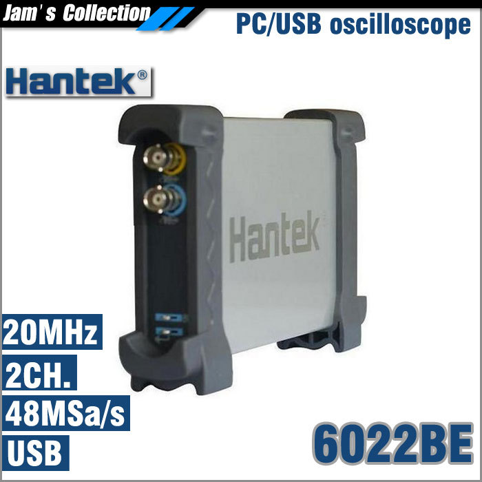 Hantek 6022BE analog oscilloscope 20MHz 48MS/s 2 channels osciloscopio PC scope USB oscilloscope(China (Mainland))