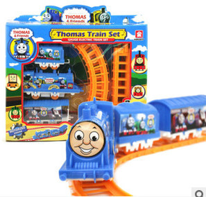 Free Shipping Electric Thomas Train Toy Model With Slot As Gifs For Children(China (Mainland))