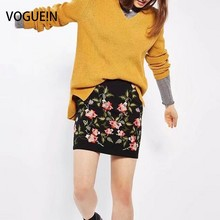 Buy VOGUE!N New Womens Ladies Sexy Black Floral Embroidered Mini Skirt Size SML Wholesale for $11.95 in AliExpress store