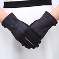 2016 Winter Female Gloves Fashion Touch Screen Wrist Gloves For Women Solid Suede Inverted Poly Spun