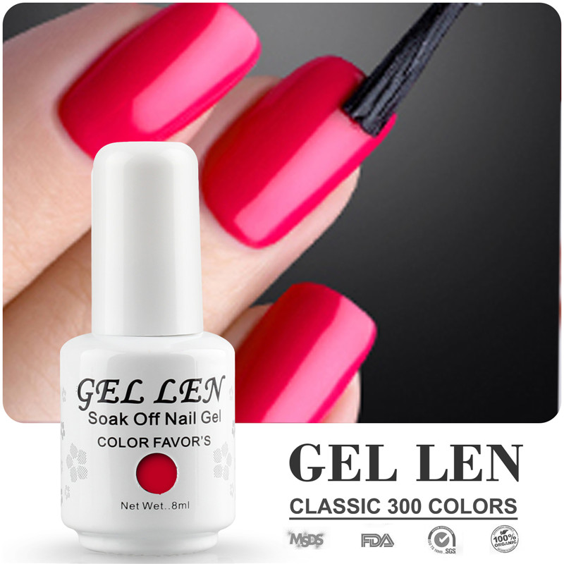 Gel Len UV Soak Off Nail Gel Polish 8ml LED Gel Varnish Long Lasting DIY Nail Art Gel Nail Varnish