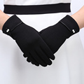 Female Gloves Mittens Women Autumn Winter Outdoor Worm Inverted Cashmere Cotton Wrist Solid Touch Screen Gloves