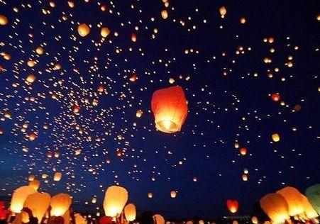 Free Shipping 20pcs/lot heart Sky Lanterns, Wishing Lamp SKY CHINESE LANTERNS BIRTHDAY WEDDING PARTY(China (Mainland))