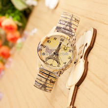 New Fashion Quality Brand Watch Color Elastic band Fashionable dress Jewelry Watches Baise ladies Quartz Wristwatches SB037P