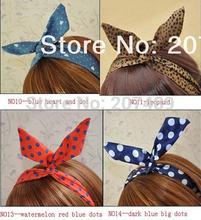 W silk rabbit ear multi color option Hairband tie hair hoop tools Maker band forehead hair