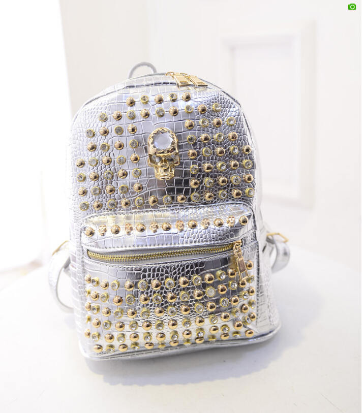 Hot Rivet Leather Backpack Skull Designer Backpacks Fashion Shopping Bag Travel Hiking Satchel Rucksack bolsas mochila XA519C<br><br>Aliexpress