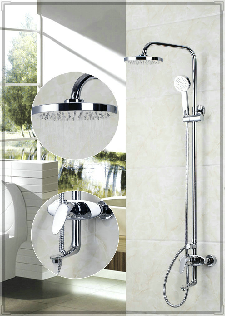 Yanksmart 53701 200mm new chrome brass water pressure for Low water pressure in bathroom sink and shower