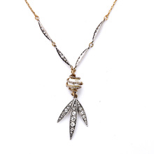 High Quality Leisure Simulate Pearl Necklace For Women Rhinestone Silver Plated Pendants Clothes Long Chain Necklaces(China (Mainland))
