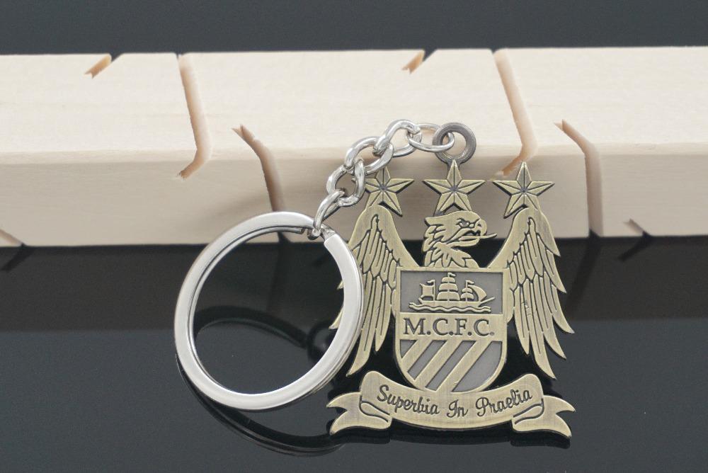 Manchester City Metal Logo Keyring Keychain Gift Football Soccer EPL MCFC(China (Mainland))