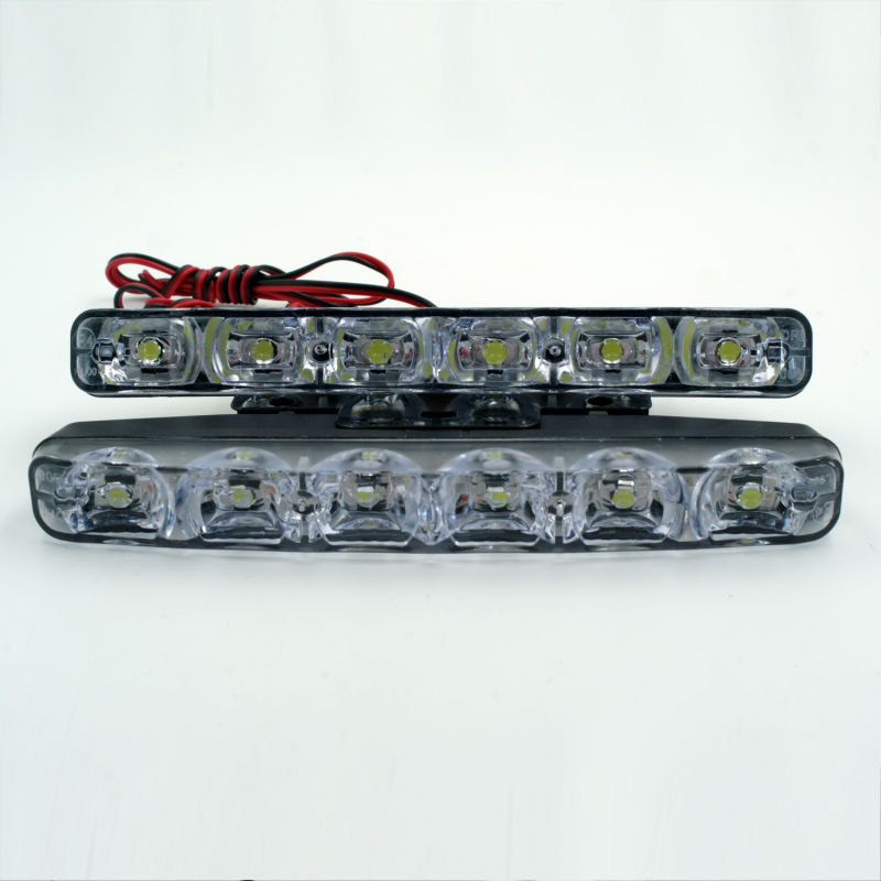2015 NEW Super Bright Xenon White 6 LED Front Fog DRL Daytime Running Driving Lights Fog