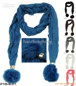 2015 Rushed Direct Selling Freeshipping Solid Adult Novelty Women Lady Scarf Jewelry With Pendant Of Hair Womens Scarves Cotton