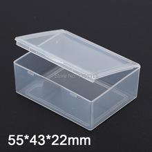 10pcs Small rectangular transparent plastic box Product packaging storage box 5.5*4.3*2.2cm(China (Mainland))