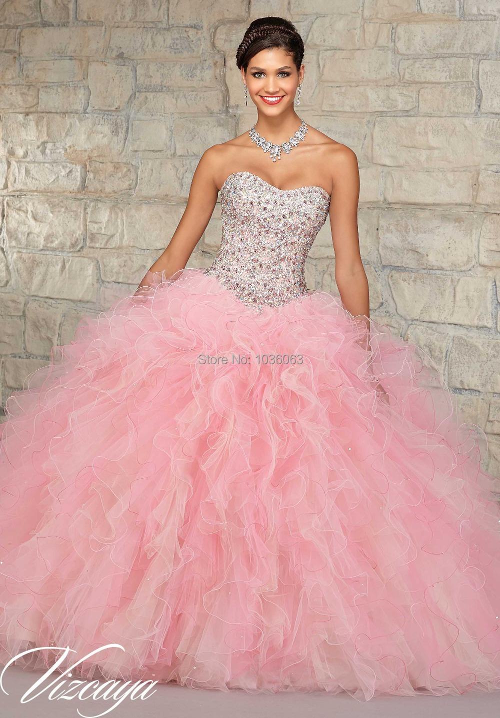 Vestidos de novia de color rosa bebé