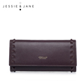 JESSIE JANE New Simple Rivet Long Women Wallets Purse Fashion Women Leather Handbag 5461