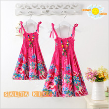 2016NEW Baby&Mom Dress,Girl Dress,Women Kids Bohemia chiffon dress beach Dress Family Look Clothing Family Matching Outfits MN08