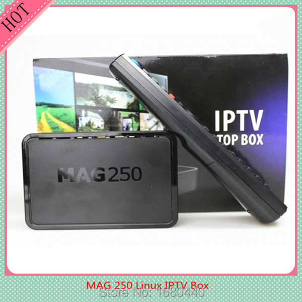 Hot Product HD 1080p Satellite Receiver Linux 2.6.23 System IPTV MAG 250 Set Top Box for Free Shipping(China (Mainland))
