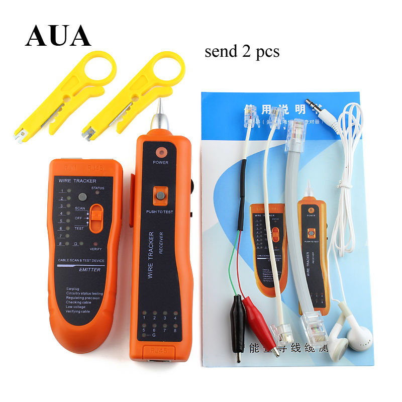 2016 High Quality RJ11 RJ45 Cat5 Cat6 Telephone Wire Tracker Tracer Toner Ethernet LAN Network Cable Tester Detector Line Finder(China (Mainland))