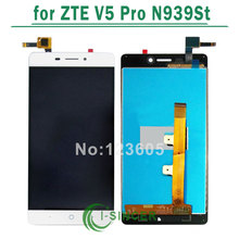1/PCS white LCD Display for ZTE V5 Pro N939St lcd Touch Screen Digitizer Assembly Replacement Free Shipping