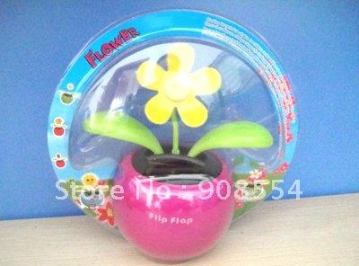 solar dancing flower 15pcs per lot Free shipping via China post air mail(China (Mainland))