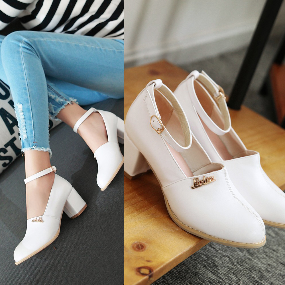 Фотография 2016 Woman shoes with pointed rough with Mary Janes in letters fashion women more colors big size 0356